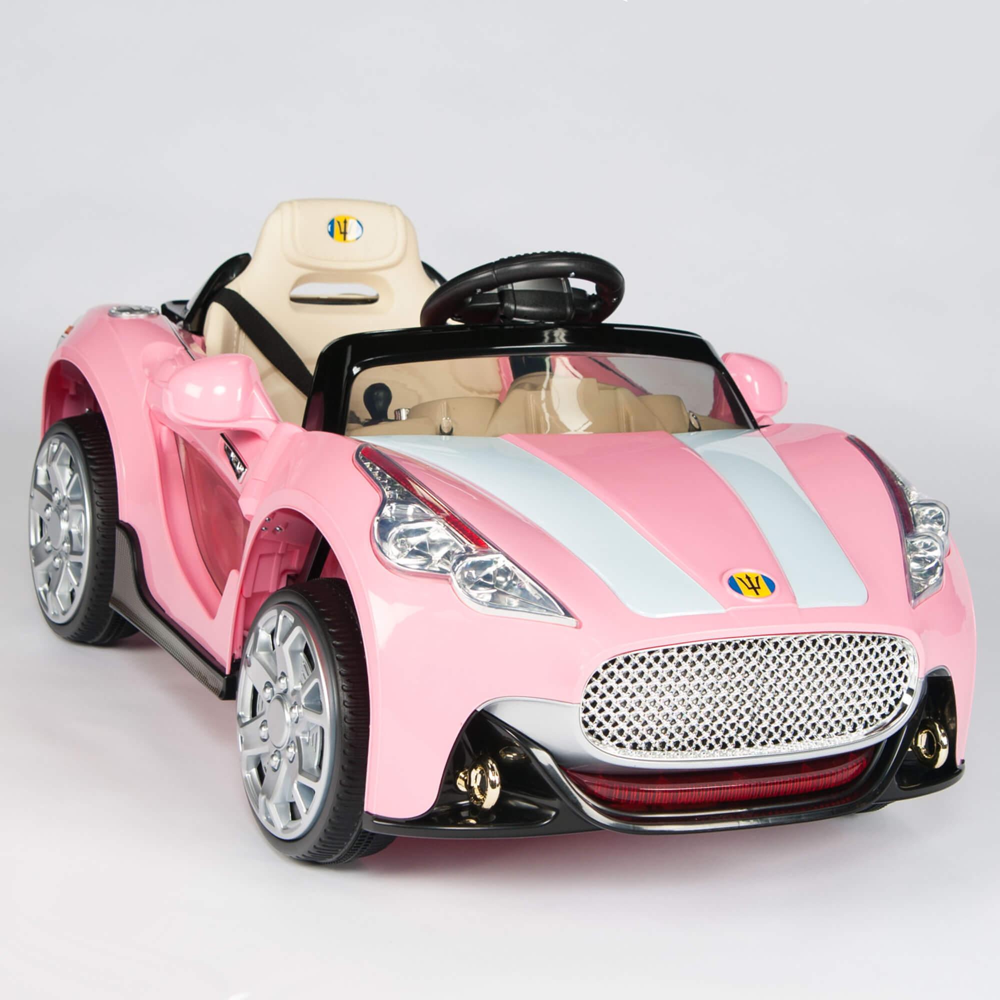 Kids Sport Edition 12V Maserati Style Ride On Car -Pink