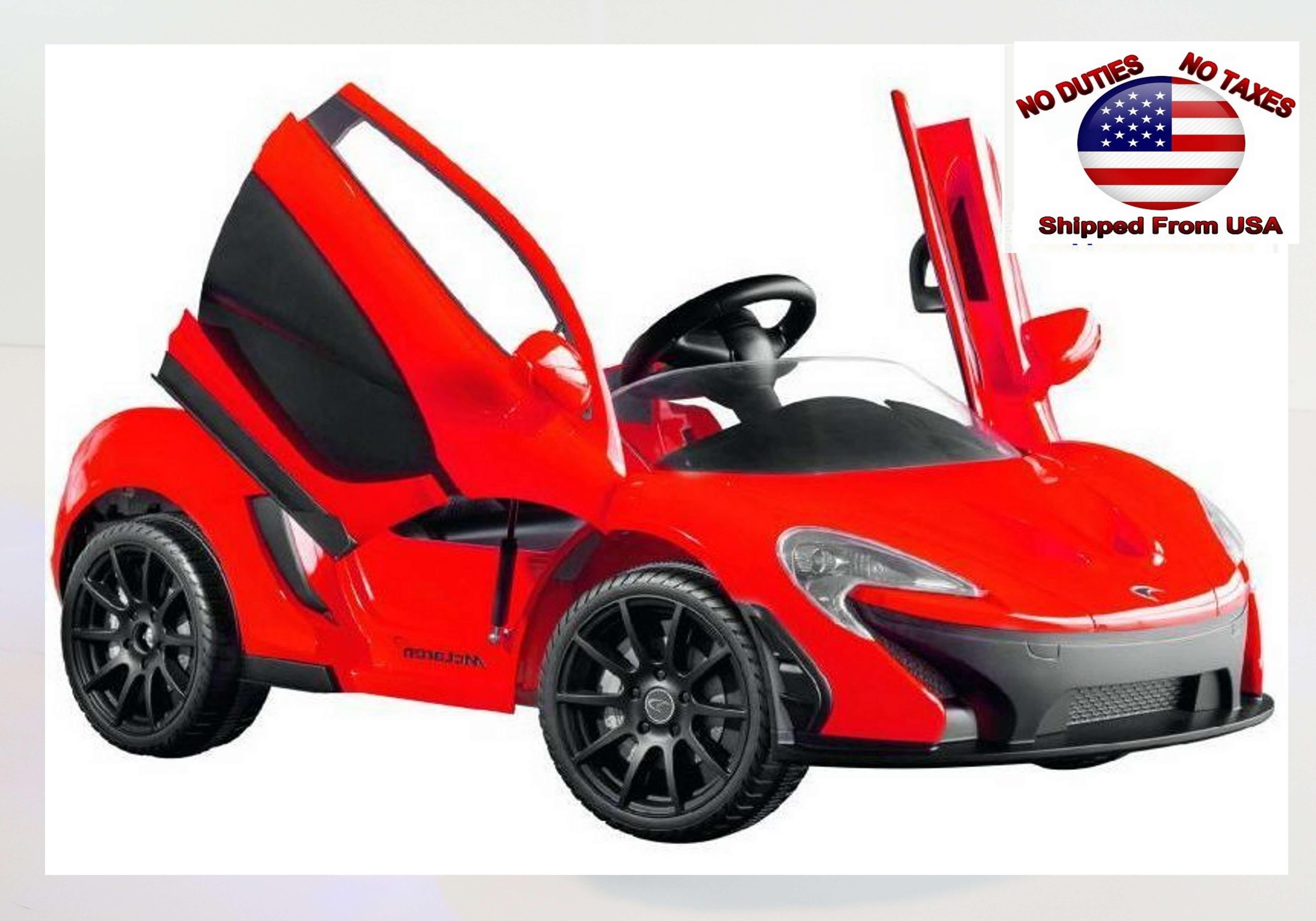 Kids Premium Edition 12v Mclaren P1 Official Ride On Car Red