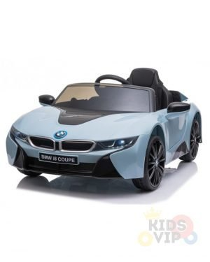 bmw i8 coupe kids and toddlers ride on car 12v remote kidsvip blue 32
