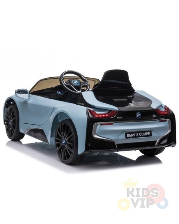 bmw i8 coupe kids and toddlers ride on car 12v remote kidsvip blue 34