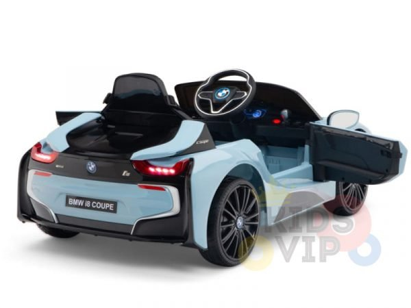 bmw i8 coupe kids and toddlers ride on car 12v remote kidsvip blue 46