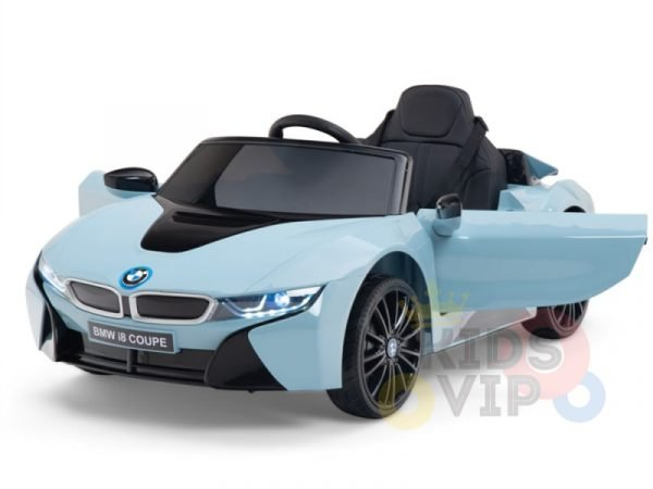 bmw i8 coupe kids and toddlers ride on car 12v remote kidsvip blue 47