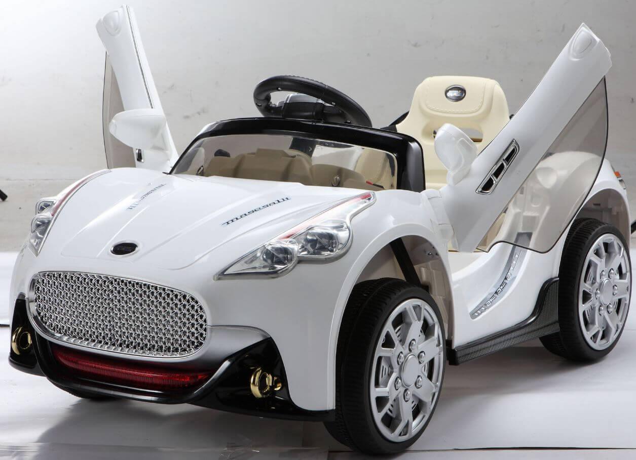 Kids Sport Edition 12v Maserati Style Ride On Car White