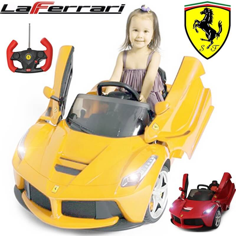 Kids Official Exotic 12v Laferrari Ride On Car Yellow