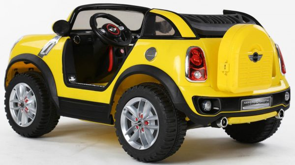 Kids Official 2 Seats 12V Mini Cooper XL Ride On Car With Parental Remote Yellow