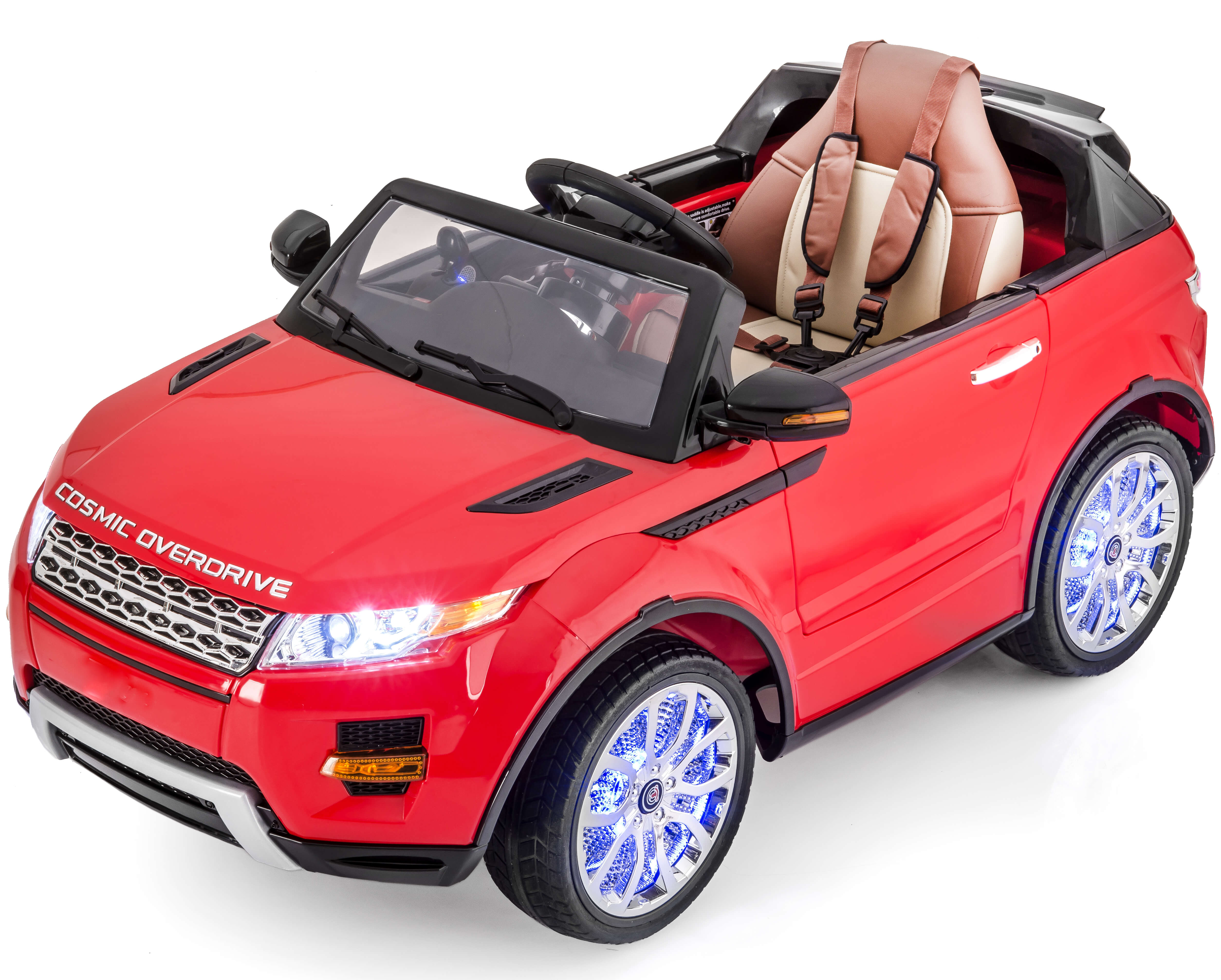 Kids 12v Led Edition Range Rover Style Ride On Car Red