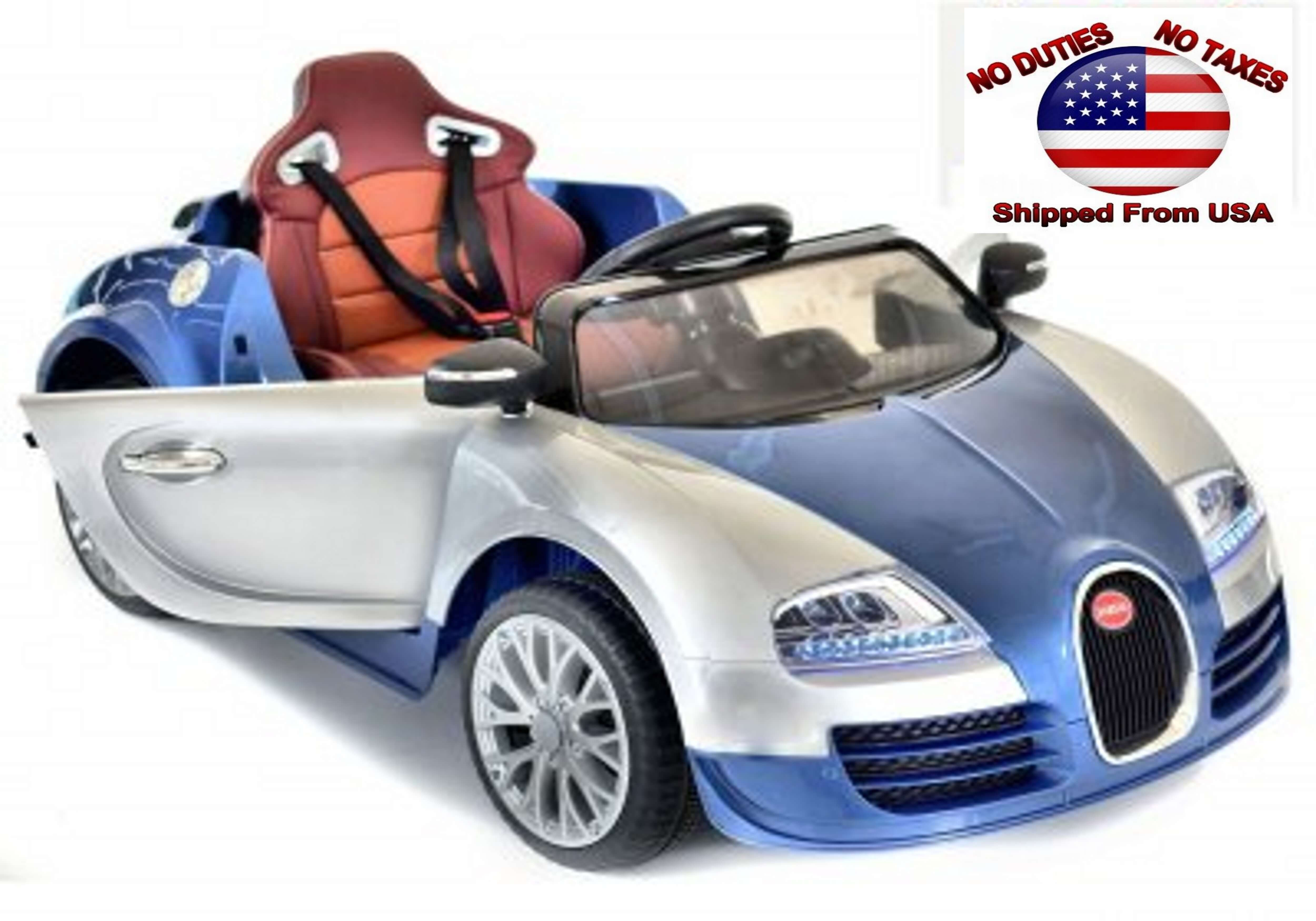 kids sport 12v bugatti veyron style ride on car - red