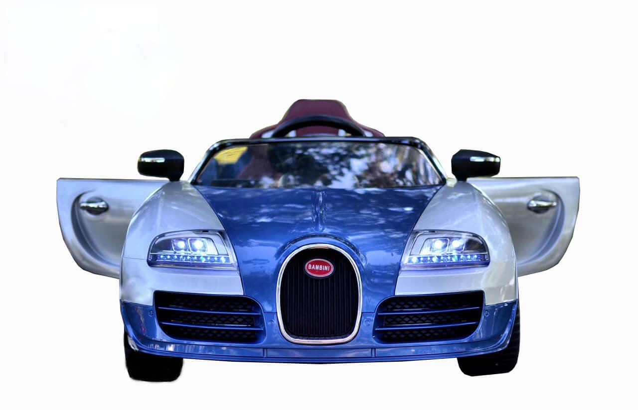 Kids Sport 12v Bugatti Veyron Style Ride On Car Blue