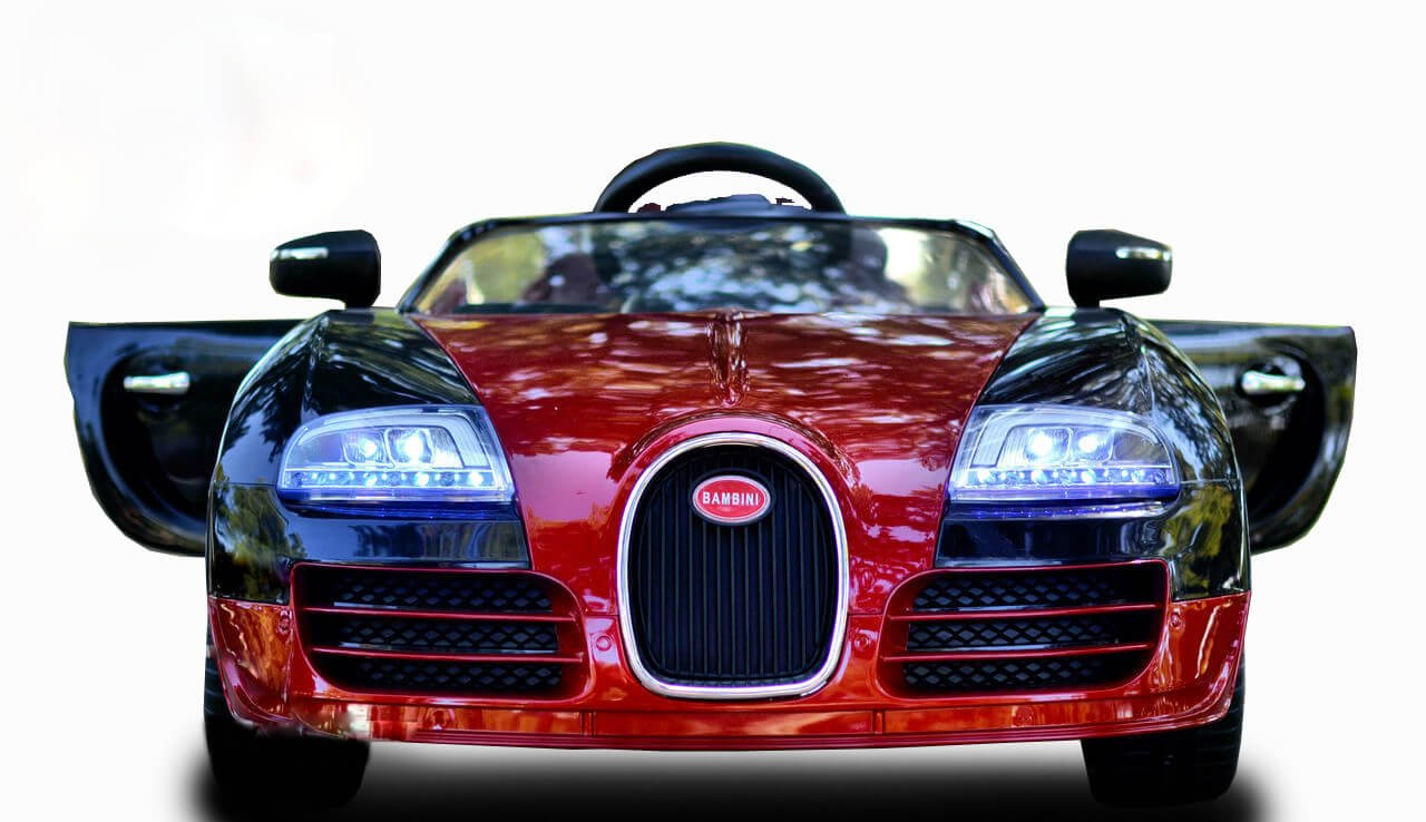 Kids Sport 12v Bugatti Veyron Style Ride On Car Red