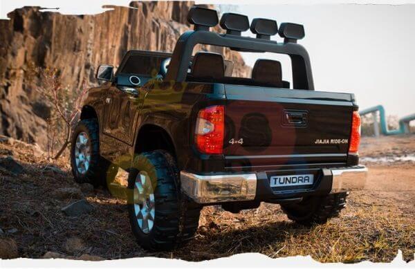 kidsvip 12v toyota tundra kids ride on car 2 seater black 11