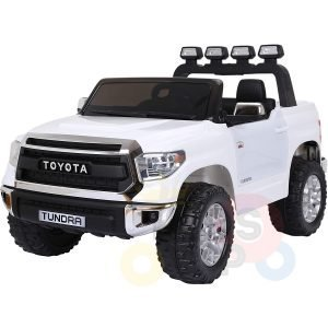 kidsvip 12v toyota tundra kids ride on car 2 seater white 1