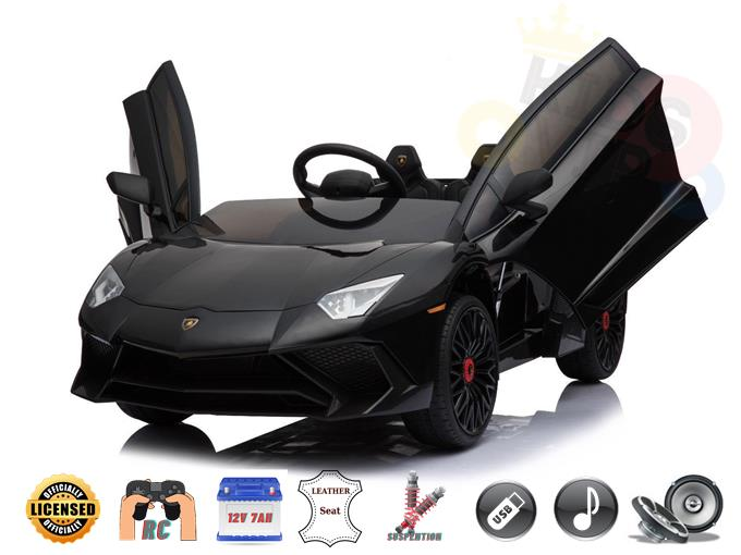 Lamborghini SV 12V Kids and Toddlers Ride On Car, Leather Seat, RC