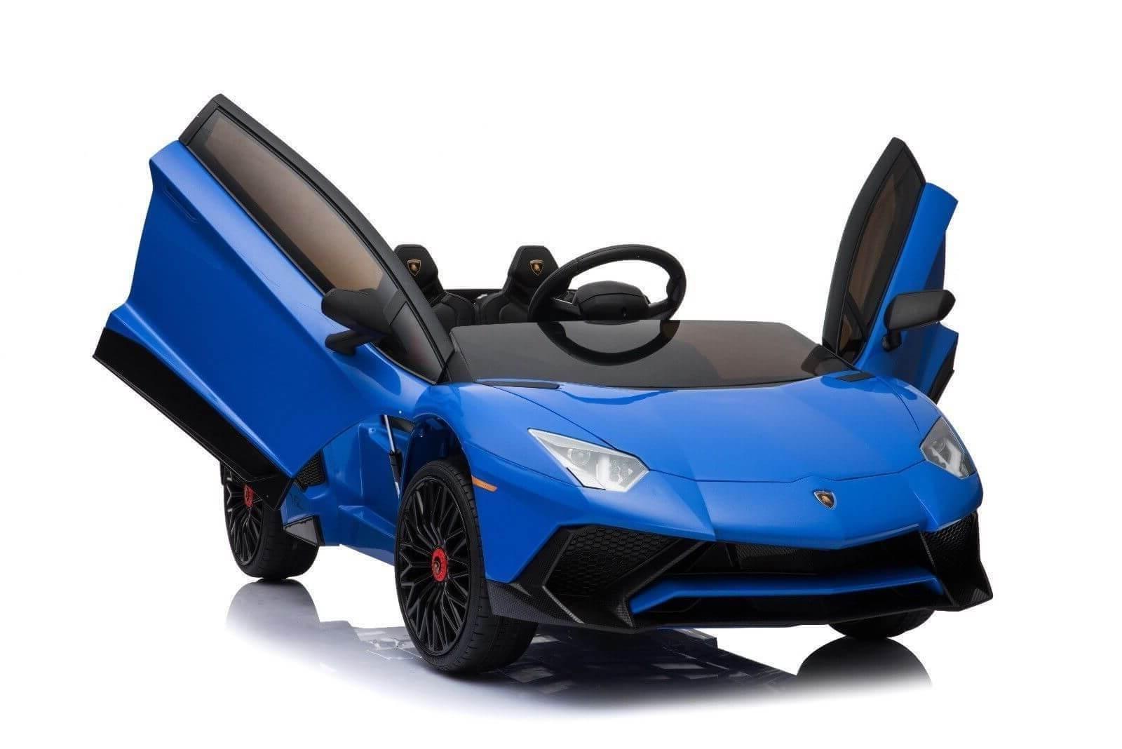 Kids Official Exotic 12v Lamborghini Ride On Car Blue