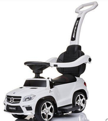 KIDSVIP PUSH MERCEDES WHITE 1