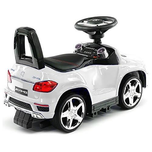 KIDSVIP PUSH MERCEDES WHITE 2