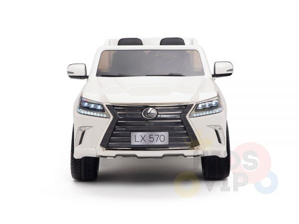 kidsvip lexus kids ride on car 2 seater white 2