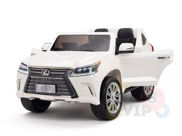 kidsvip lexus kids ride on car 2 seater white 23