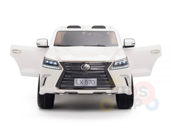 kidsvip lexus kids ride on car 2 seater white 4