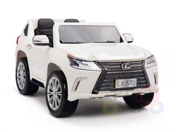 kidsvip lexus kids ride on car 2 seater white 7