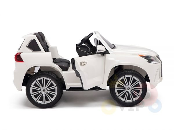 kidsvip lexus kids ride on car 2 seater white 9