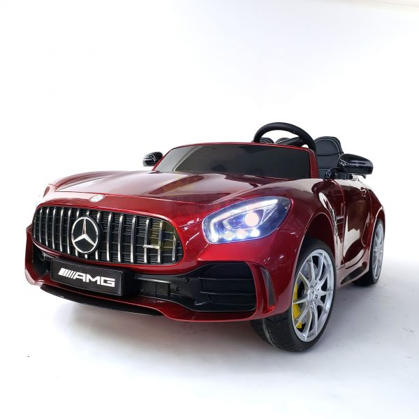 kidsvip mercedes benz gtr 2 seater kids and toddlers ride on car red 12