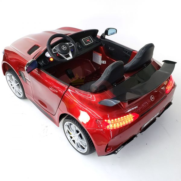 kidsvip mercedes benz gtr 2 seater kids and toddlers ride on car red 14