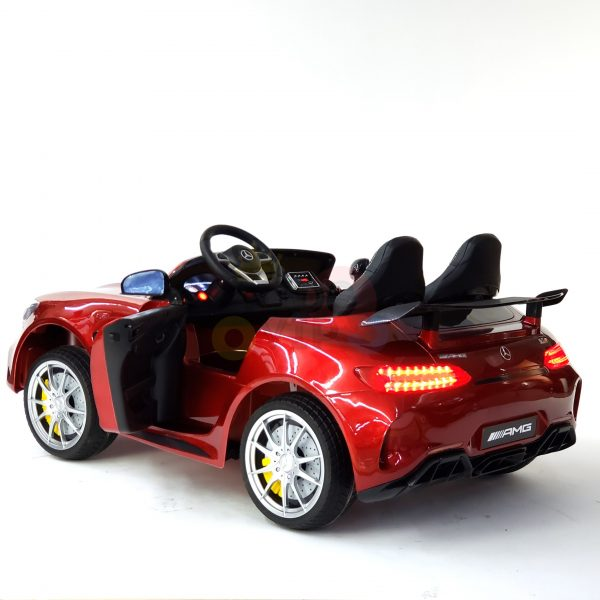 kidsvip mercedes benz gtr 2 seater kids and toddlers ride on car red 17