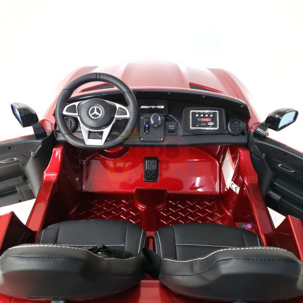 kidsvip mercedes benz gtr 2 seater kids and toddlers ride on car red 20