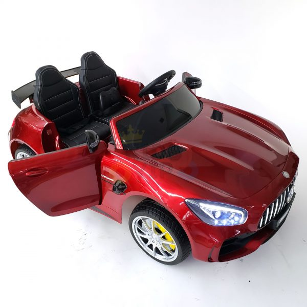 kidsvip mercedes benz gtr 2 seater kids and toddlers ride on car red 36