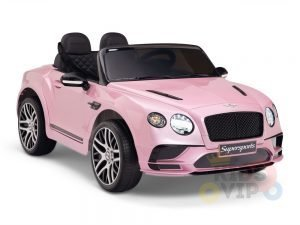 kidsvip pink ride on bentley kids and toddlers 12v car 1