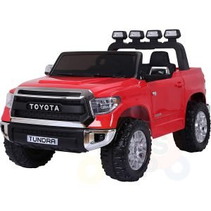 kidsvip 12v toyota tundra kids ride on car 2 seater red 1
