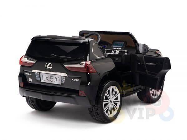 kidsvip lexus kids ride on car 2 seater black 10
