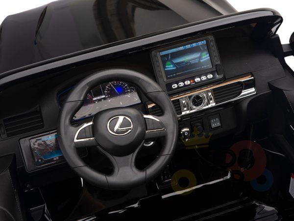 kidsvip lexus kids ride on car 2 seater black 13