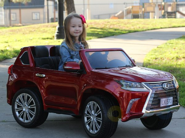 kidsvip lexus kids ride on car 2 seater black 22