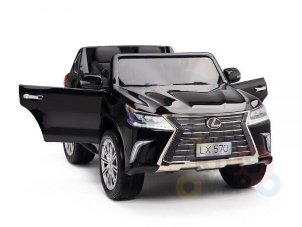 kidsvip lexus kids ride on car 2 seater black 5