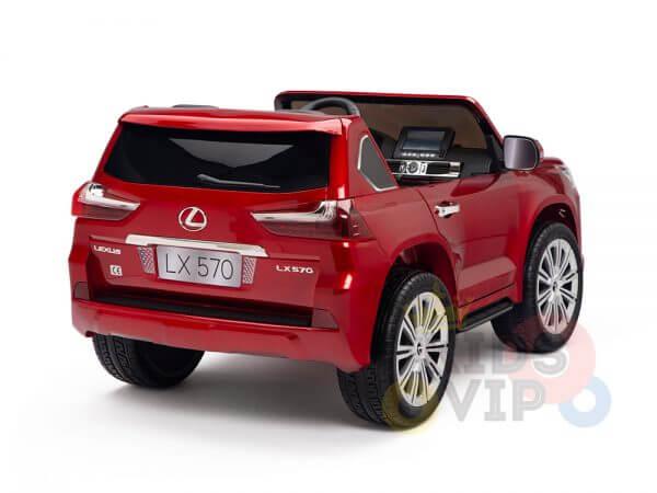 kidsvip lexus kids ride on car 2 seater red 24