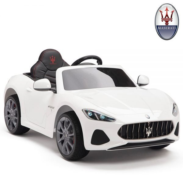 KIDSVIP MASERATI KIDS TODDLERS RIDE ON CAR 12V WHITE 19