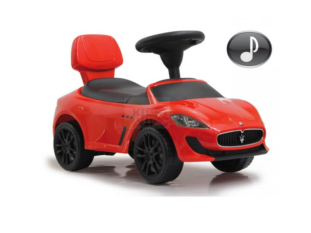 Officially Licensed Maserati Gran Cabrio Push Car for Toddlers, Musical Steering Wheel, Folding Backrest – Red