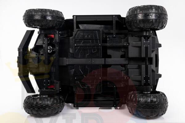 kidsvip 2 seater ride on utv buggy 2x12v rubber wheels toddlers kids pink 4 1