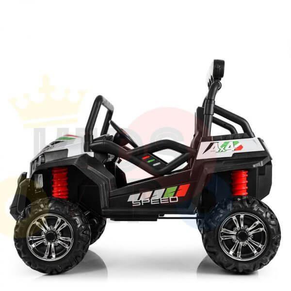 kidsvip 2 seater ride on utv buggy 2x12v rubber wheels toddlers kids white 1