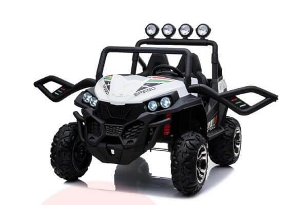 kidsvip 2 seater ride on utv buggy 2x12v rubber wheels toddlers kids white 2