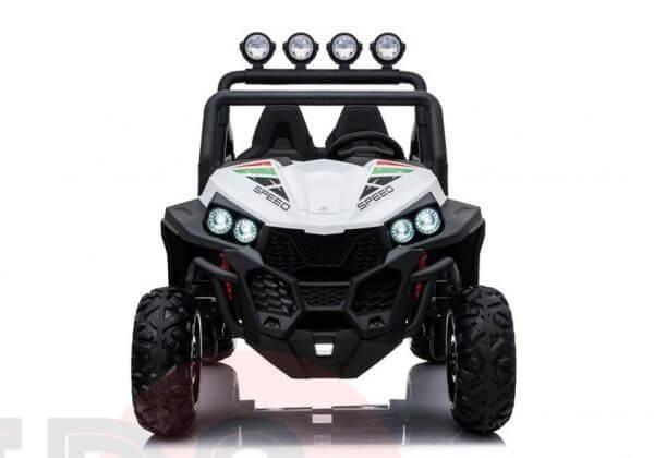 kidsvip 2 seater ride on utv buggy 2x12v rubber wheels toddlers kids white 21
