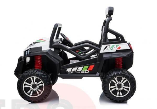 kidsvip 2 seater ride on utv buggy 2x12v rubber wheels toddlers kids white 23
