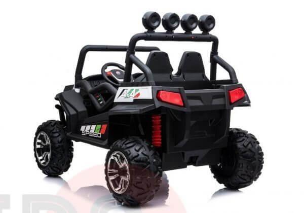 kidsvip 2 seater ride on utv buggy 2x12v rubber wheels toddlers kids white 24