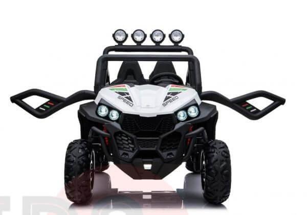 kidsvip 2 seater ride on utv buggy 2x12v rubber wheels toddlers kids white 25