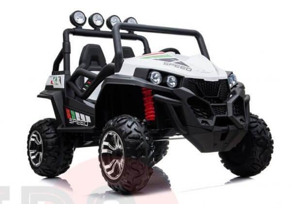 kidsvip 2 seater ride on utv buggy 2x12v rubber wheels toddlers kids white 26
