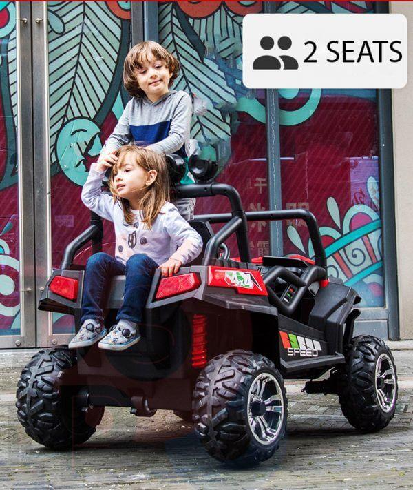 kidsvip 2 seater ride on utv buggy 2x12v rubber wheels toddlers kids white 33 1