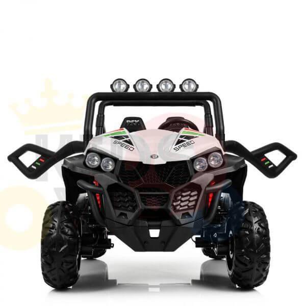 kidsvip 2 seater ride on utv buggy 2x12v rubber wheels toddlers kids white 34