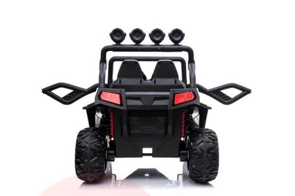 kidsvip 2 seater ride on utv buggy 2x12v rubber wheels toddlers kids white 4