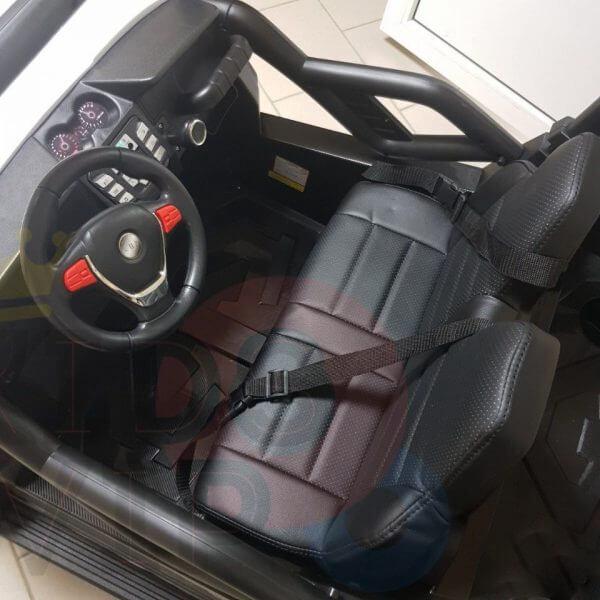 kidsvip 2 seater ride on utv buggy 2x12v rubber wheels toddlers kids white 6 1